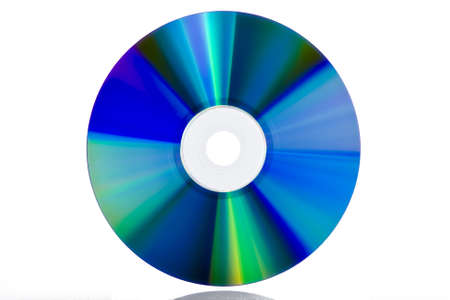 optical disk: DVD blank isolated