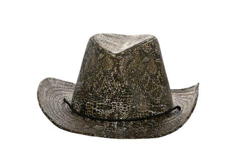 resistol: Americana sobre mojado sombrero de vaquero aislado en blanco Foto de archivo