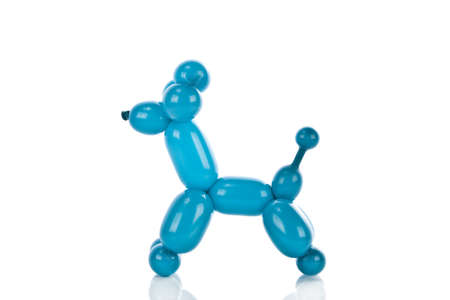 Simple balloon animal poodle on white  photo