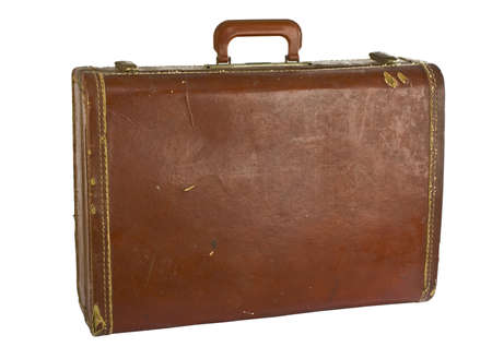 suit case: Vintage suit case isolated on white