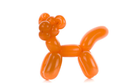 Simple balloon animal tiger cat on white  photo