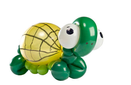 Balloon Animal turtle isolated on white