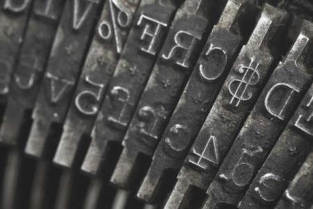 Old typewriter type Stock Photo - 15265584