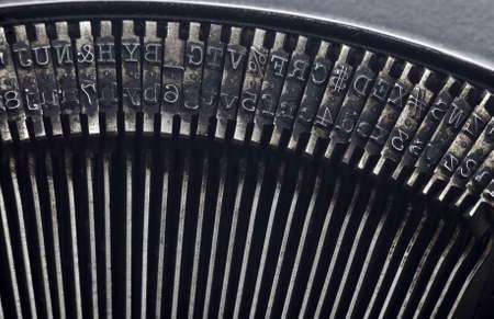 Old typewriter type Stock Photo - 15265585