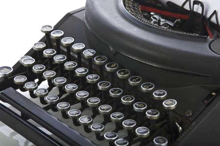 Vintage portable typewriter on white  Stock Photo - 15265588