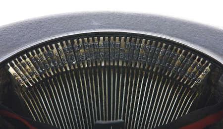 Vintage portable typewriter type on white Stock Photo - 15265557