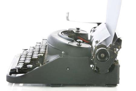 Vintage portable typewriter on white Stock Photo - 15265564