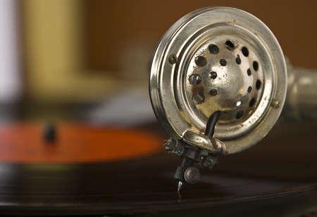 Vintage portable record record player  写真素材