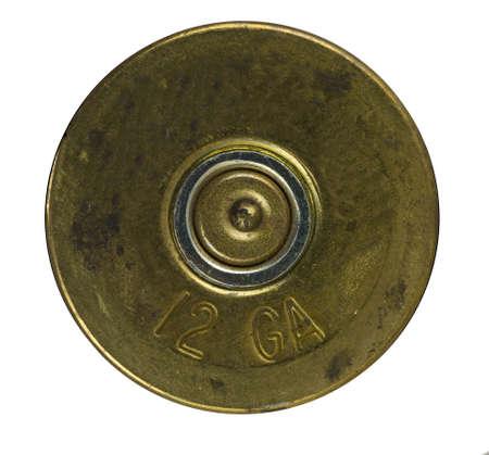 ammunition: Bullet Shell casing bottom  Stock Photo