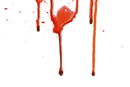 paint drop: Dripping blood