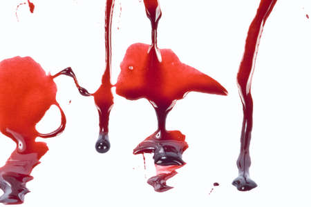 blood dripping: Dripping blood