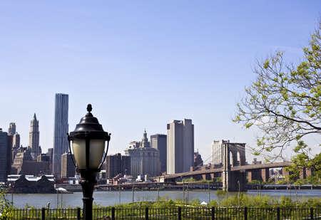 Lower Manhattan with Brooklyn bridge New York City Stock Photo - 15123619