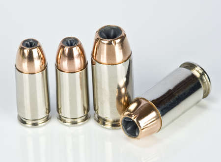 hollow: Hollow point bullets on white
