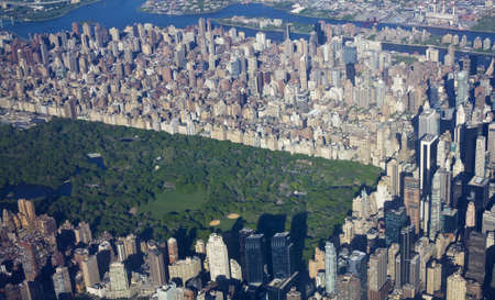 New York central park and manhattan from the air  Stock Photo