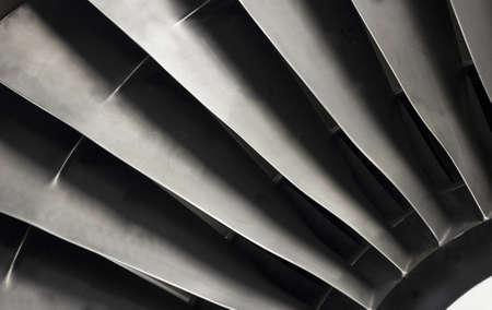 engine: Close-up of jet engine fan blades