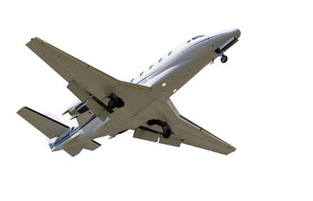 private jet: isolated Jet airplane on a white background  Stock Photo