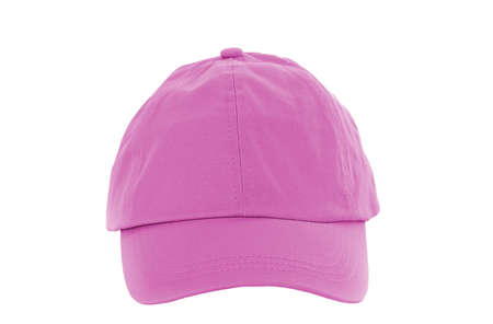Pink Baseball Cap isolated on white photo