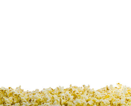 popcorn background on white photo