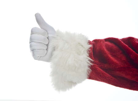 Santa Claus hand jester thumbs up Stock Photo - 15018642