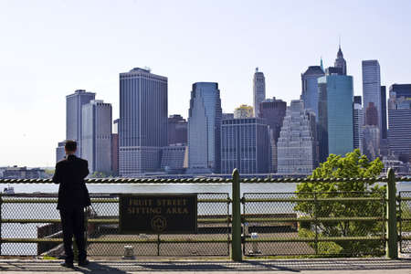 View of Lower Manhattan New York city Stock Photo - 15018982