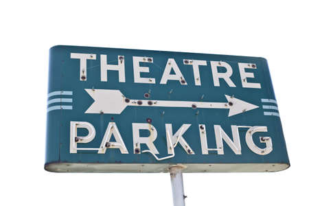 Vintage movie theatre parking sign  photo