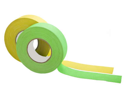 two rolls of gaffers tape isolated on white photo