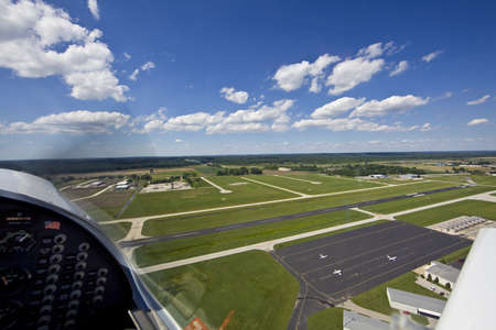 View from small aircraft of airport in mid west USA  photo