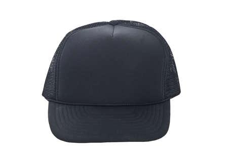 black baseball hat isolated on white