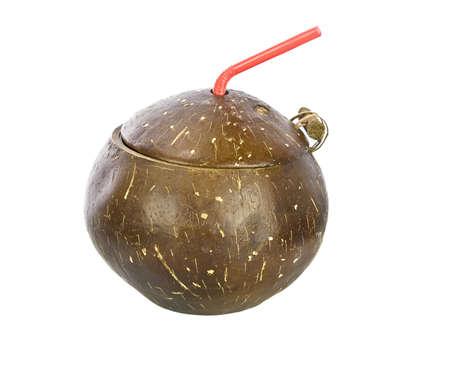 unwind: Coconut Drink with straw