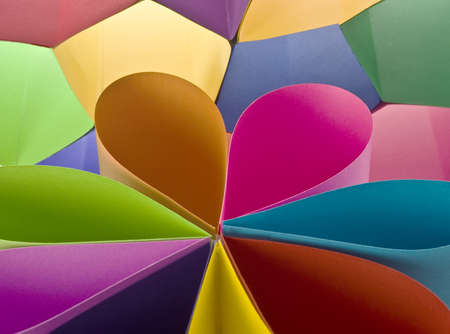 decorative item: Colored paper background stacked