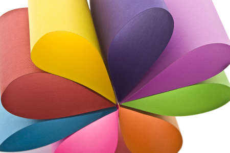 curve creative: Colored paper background stacked in wedges  Stock Photo