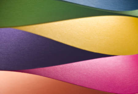 colored paper: Colored paper background stacked in wedges