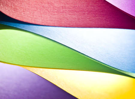 art materials: Colored paper background stacked in wedges