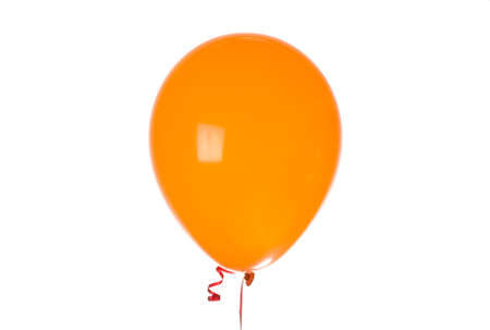 slumber party: Orange Balloon isolated on white Stock Photo