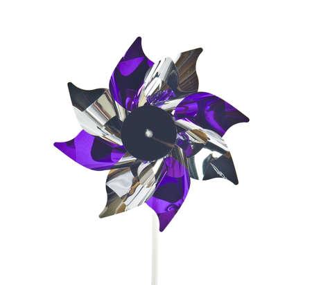 wind wheel: colorful windmill Stock Photo
