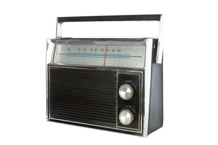 Vintage Radio isolated on white Stock Photo - 15689276
