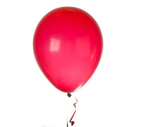 globo: Globo rojo aislado en blanco Foto de archivo
