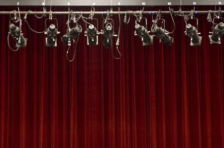 audition: Kurtyna Stage światłami sceny Zdjęcie Seryjne