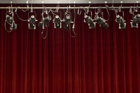 audition: Stage curtain with stage lights