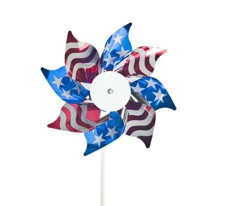 colorful american flag windmill  photo