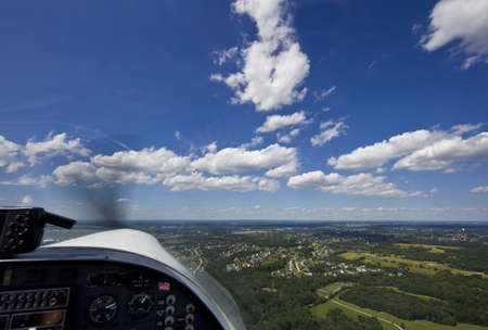 altimeter: View from small aircraft taking off from runway