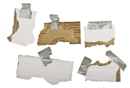 cardboard strips on white