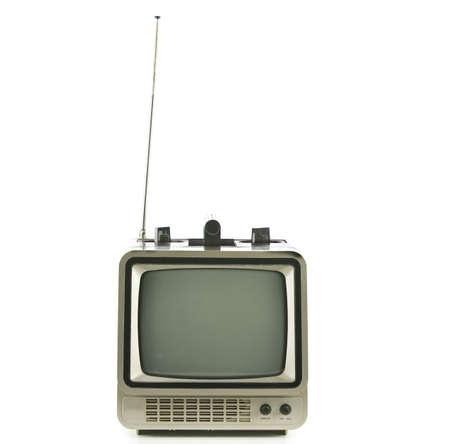 Old vintage TV over a white background Reklamní fotografie
