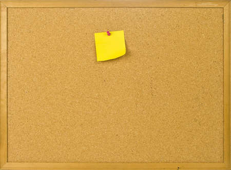 Cork posting board with blank note
