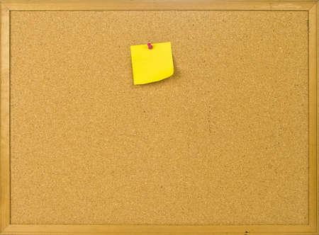 corcho: Cork publicar junta con la nota en blanco