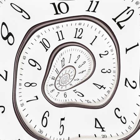 Abstract clock bis unendlich