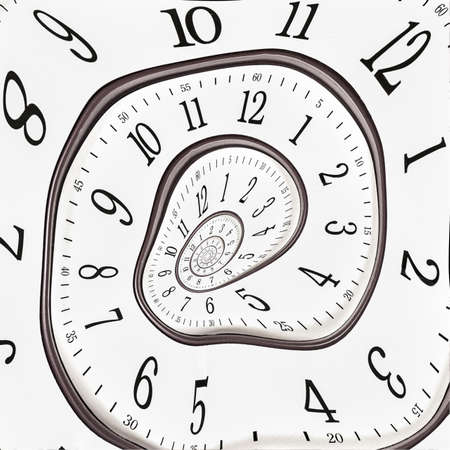 Abstract clock to infinity Stock Photo - 16006079