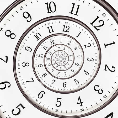 wijzerplaat: Abstract klok oneindig