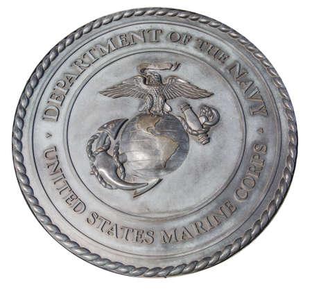 marine bird: EE.UU. Cuerpo de Marines placa conmemorativa en Washington DC Editorial