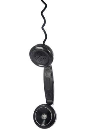 receiver: Vintage phone receiver on white Stock Photo